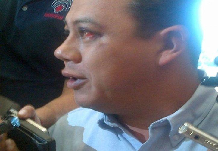 Eduardo de la Torre candidato del PAN a la diputación local denunció que la madrugada del sábado fue golpeado por desconocidos. (Milenio)