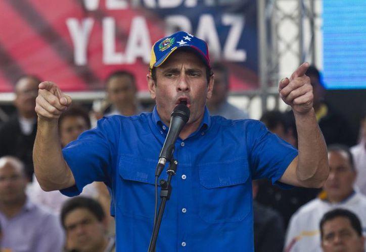 """Capriles impugnó la semana pasada ante Tribunal Supremo de Justicia todo el proceso de votación por supuestos """"vicios"""". (Archivo/EFE)"""