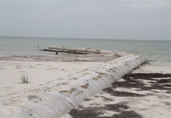 La boya estaba colocada a 15 metros de profundidad entre Holbox y Cabo Catoche. (Tomás Álvarez/SIPSE)