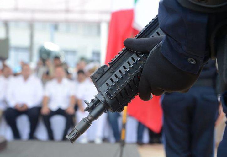 Las reglas del Fortaseg exigen se adquiera armamento y municiones para que el personal esté en entrenamiento constante. (Gustavo Villegas/SIPSE)