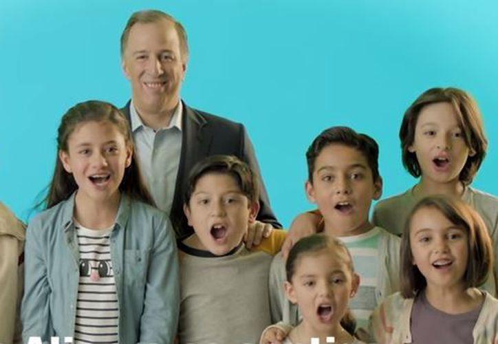 """En el spot """"Niños Meade PRI"""", los menores aparecen hablando sobre sus sueños. (Foto: Captura)"""