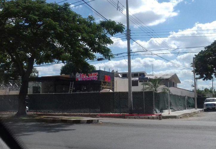 La primera sucursal de Dunki'n Donuts en Mérida se abrirá en calle 39 esquina con Circuito Colonias, en Buenavista. (Foto: Eduardo Vargas/SIPSE.com)