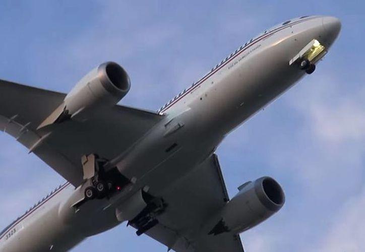 Este es el avión que usará el presidente Enrique Peña Nieto en su giras por México y el mundo. (Universidad Aeronáutica de Querétaro)