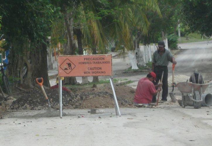 Detinaron 49 millones de pesos para los trabajos de drenaje sanitario. (Javier Ortiz/SIPSE)