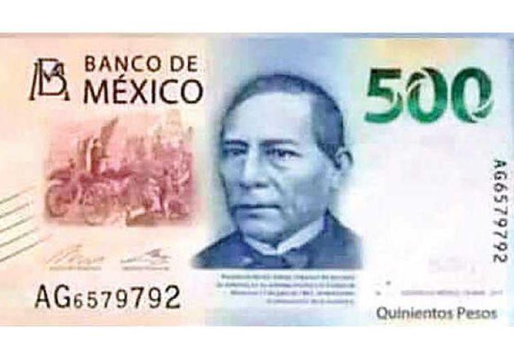 En redes sociales se ha especulado que el nuevo billete de 500 pesos podría ser impreso en papel azul, (Twitter)