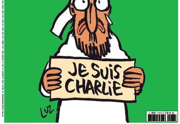 La imagen de Mahoma está firmada por el dibujante Luz. (Twitter.com/@libe)