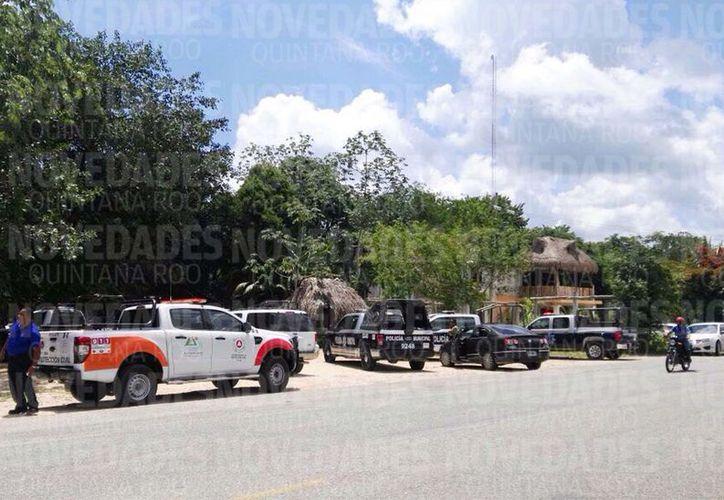 El incidente en el que murieron dos de los tres ejecutados ocurrió en un predio que se ubica entre Tulum y Macario Gómez en dirección hacia Cobá.  (Redacción/SIPSE)