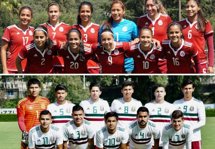 Las selecciones de fútbol mexicanas femenil y varonil tendrán tres partidos cada una en los juegos Centroamericanos.  (Milenio.com)