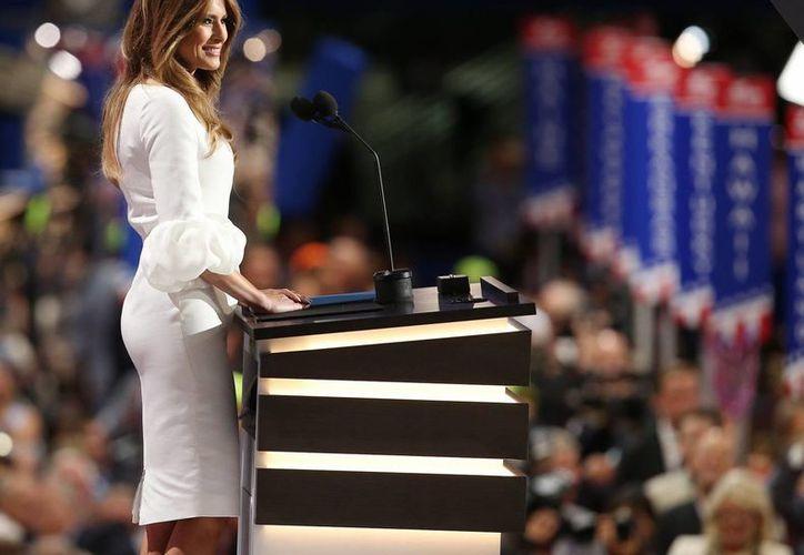 Melania Trump, esposa del candidato republicano a la Casa Blanca, Donald Trump, es de origen esloveno. (Archivo/EFE)