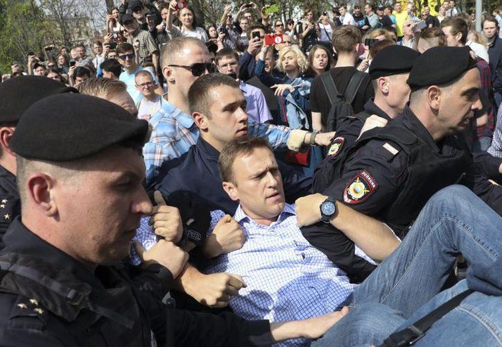 Alexéi Navalni convocó a la manifestación principal en la capital rusa. (El País)