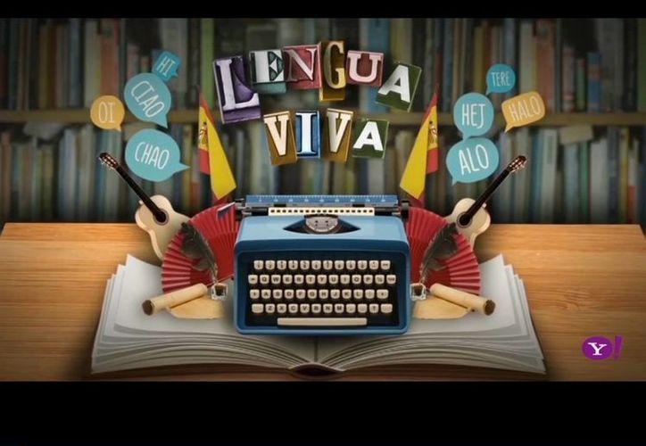 """""""La lengua viva"""" está disponible en la página de Yahoo Noticias en Español en la sección de videos. (es-us.noticias.yahoo.com)"""