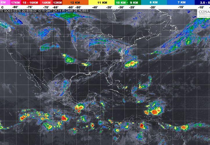 Durante el día de hoy se espera la formación de tormentas por la tarde en Chetumal. (Conagua)