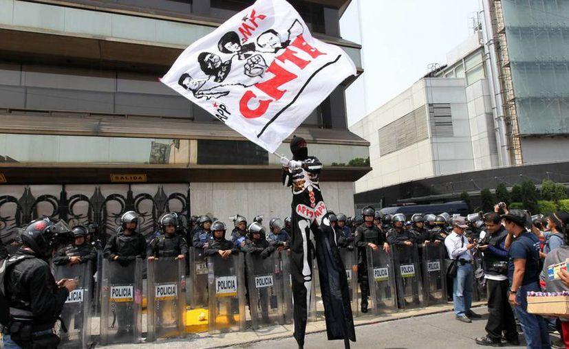 Marcha de los integrantes de la CNTE en la Ciudad de México. (Archivo/Notimex)