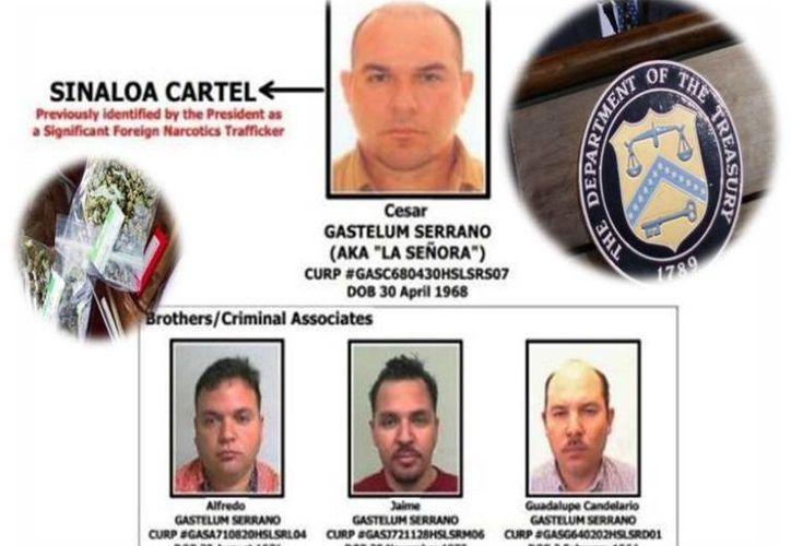 """Ficha del Departamento del Tesoro en la que incluye a cuatro de los hermanos Serrano Gastélum como """"narcotraficantes importantes"""". (Internet)"""