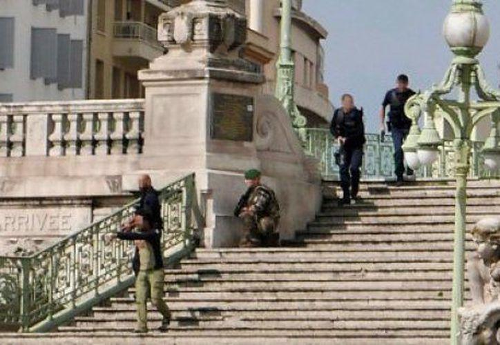 Un hombre mató a dos personas con un cuchillo en la principal estación de trenes de Marsella. (AFP).