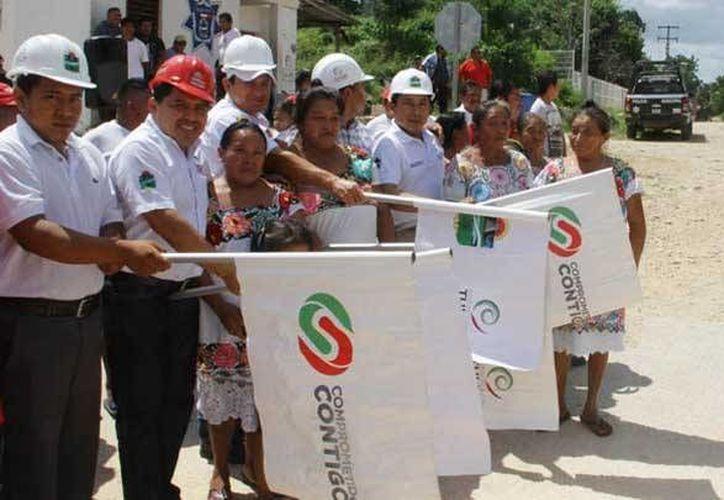 Esta semana iniciaron las obras de pavimentación y alumbrado en comunidades de la Zona Maya.  (Redacción/SIPSE)