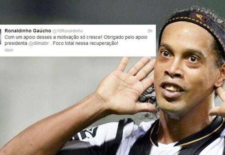 El futbolista dijo que el apoyo de Rousseff le da motivación. (larepublica.pe)