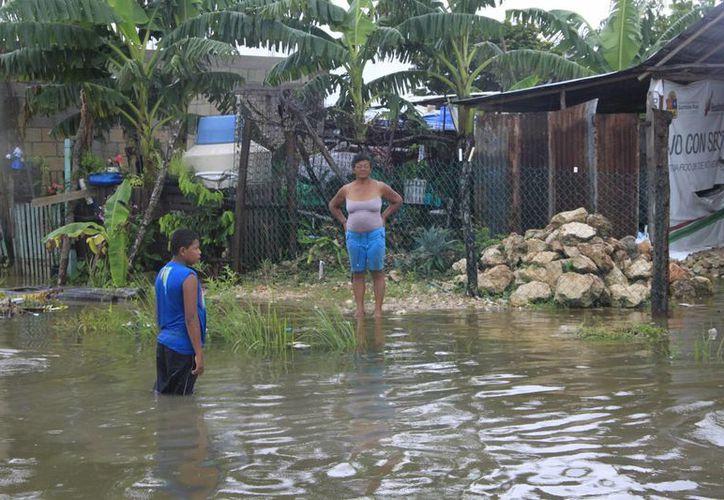 Desde que existe un sistema tropical los representantes del Fonden están atentos ante cualquier eventualidad. (Paloma Wong/SIPSE)