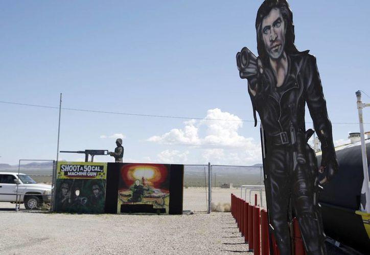Imagen del campo de tiro Last Stop en White Hills, lugar donde murió el instructor Carlos Vacca. (Agencias)