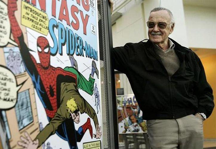 El creador del universo Marvel, Stan Lee, participó este sábado en la Comic-Con de San Diego. (AP)