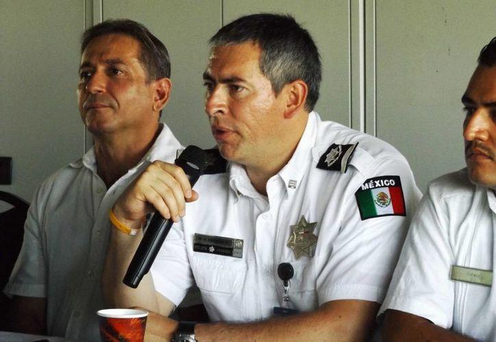 El director general para la prevención de delitos cibernéticos de la Policía Federal, Marcos Arturo Rosales García, anunció que se gestiona que haya una célula del órgano que dirige en Q. Roo.  (Daniel Pacheco/SIPSE)