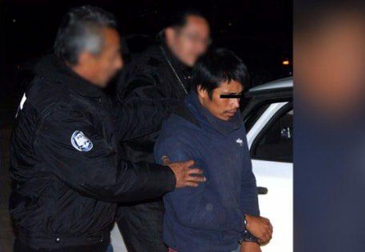 El sospechoso fue asegurado en San Miguel Ometusco, en el municipio de Axapusco. (Foto: Twitter)