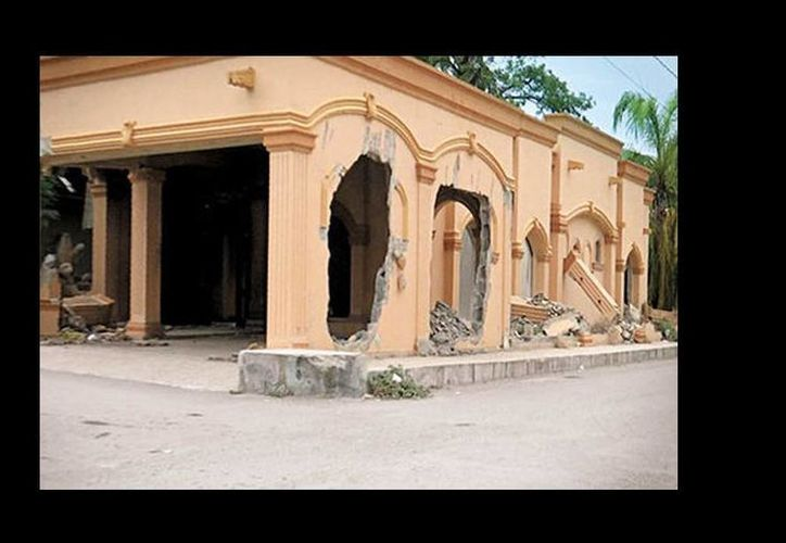 A más de cinco años de los hechos, uno de los edificios derruidos. (Milenio)