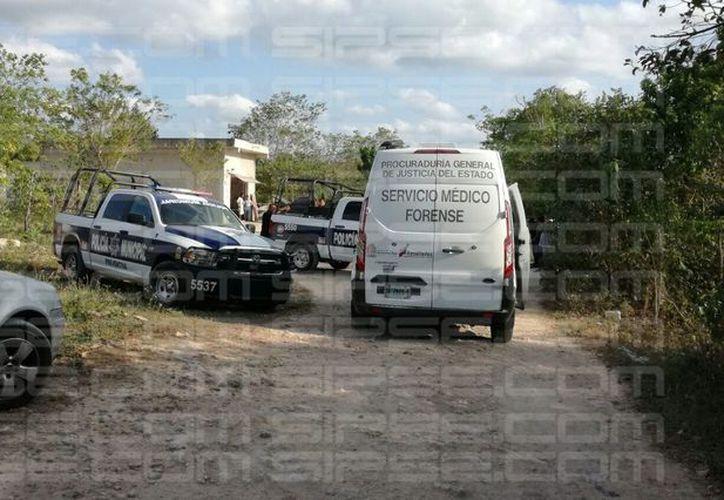 Al sitio arribó el equipo del Servicio Médico Forense. (Rubén Dario/ SIPSE)