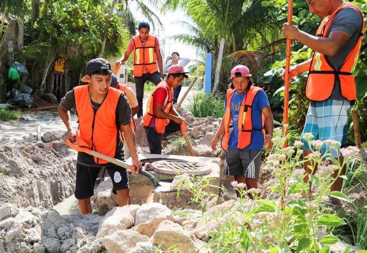Se preparan para obras del sistema de suministro de agua potable. (SIPSE)