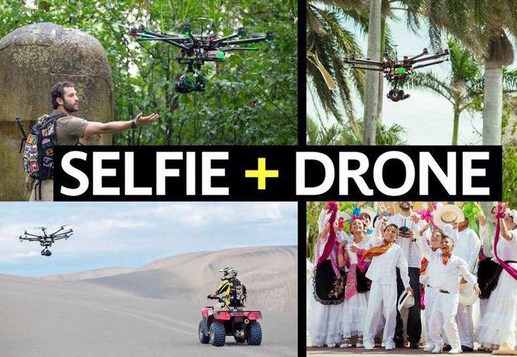 Presentan campaña de publicidad del uso de drones para que turistas se tomen la foto del recuerdo. (Facebook Veracruz Turismo)