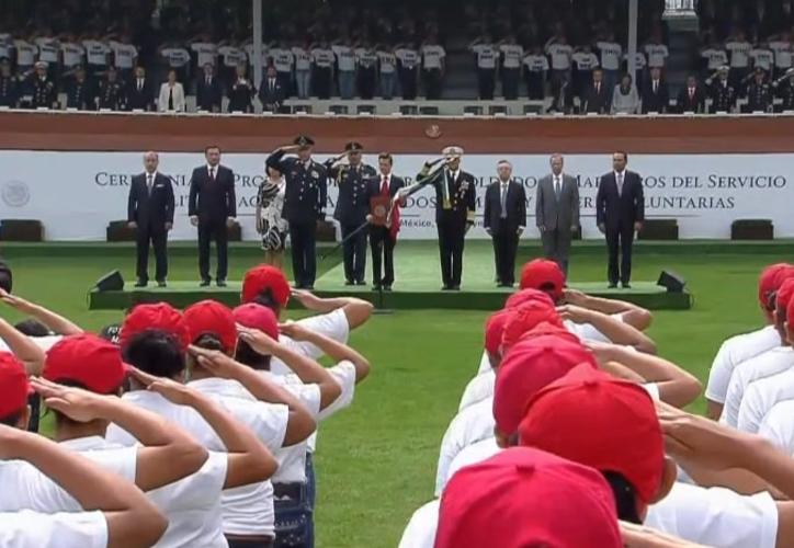 Enrique Peña Nieto también recordó a los héroes de la Batalla de Puebla. (@PresidenciaMX).