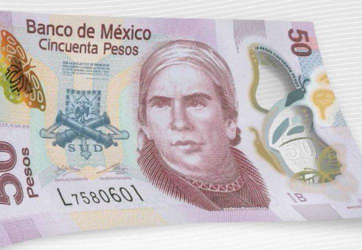 El billete conserva como imagen principal el retrato de José María Morelos. (Notimex)