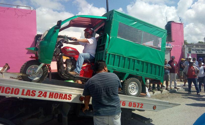 Sintra detuvo hace unos días a un mototaxi en Puerto Aventuras. (Foto: Adrián Barreto/SIPSE)