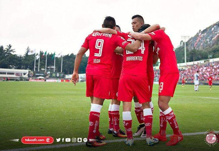 A Toluca le hizo falta el <i>toque fino</i> ante Esmeraldas de León con quien terminó por firmar el empate a un gol. (Twitter: @TolucaFC)