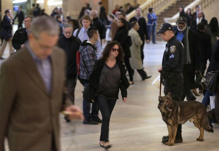 Se aumento la vigilancia en diversos puntos de la ciudad de Nueva York. (Agencias)