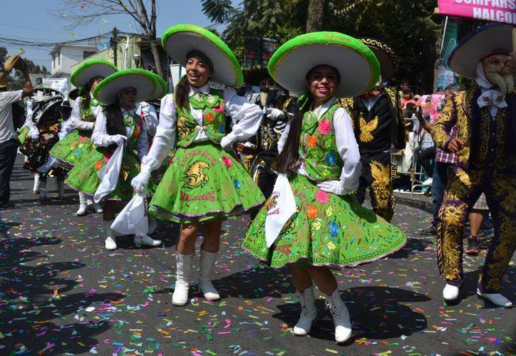 El Carnaval de Chimalhuacán es uno de los más largos a nivel mundial, de acuerdo con las autoridades. (Notimex)