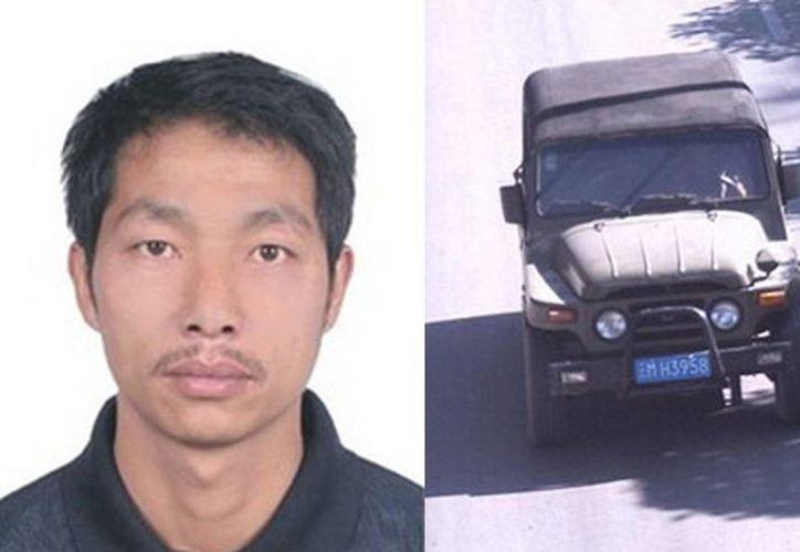 Shao Zongqi, de 38 años de edad, huyo en un vehículo  todoterreno, hasta el momento no ha sido capturado. (baomoi.com)