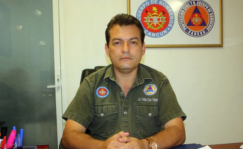 Félix Díaz Villalobos, director de Protección Civil. (Tomás Álvarez/SIPSE)