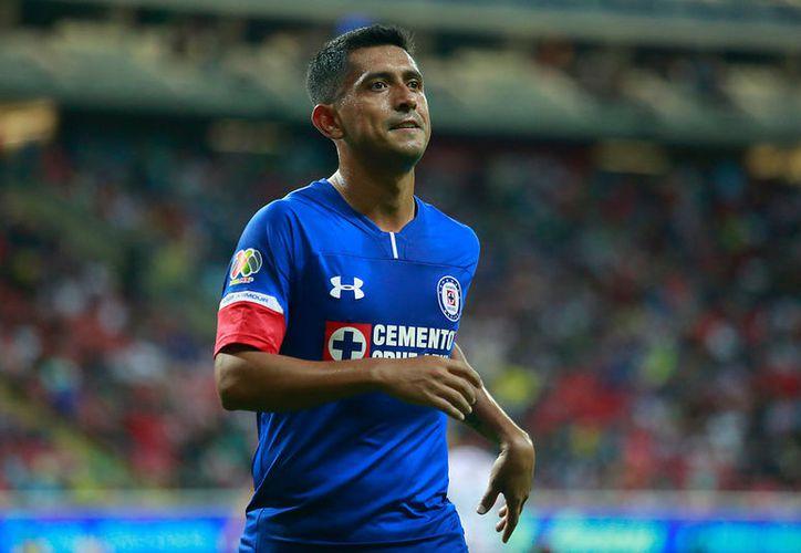 Elias Hernandez del Cruz Azul durante el juego de la Jornada 2 del Torneo Apertura 2018. (Jammedia)