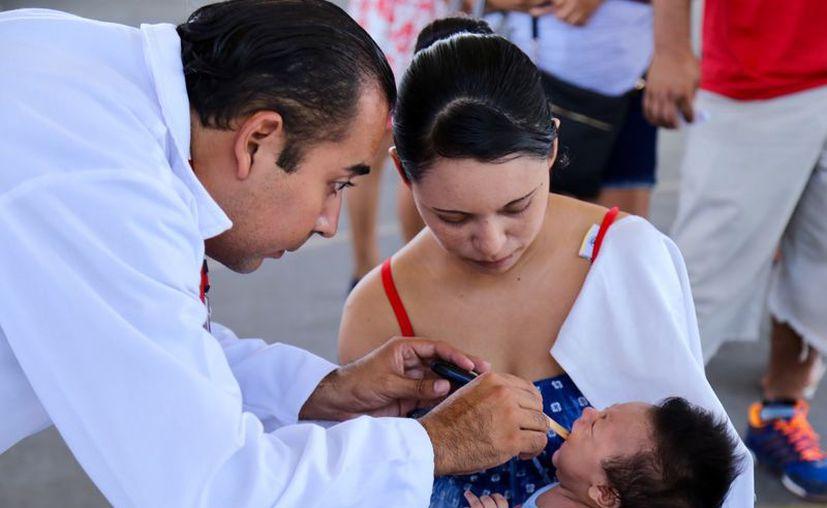 En 2019 reforzarán las brigadas médicas en zonas vulnerables para mitigar los riesgos de la población infantil. (Adrián Barreto/SIPSE)