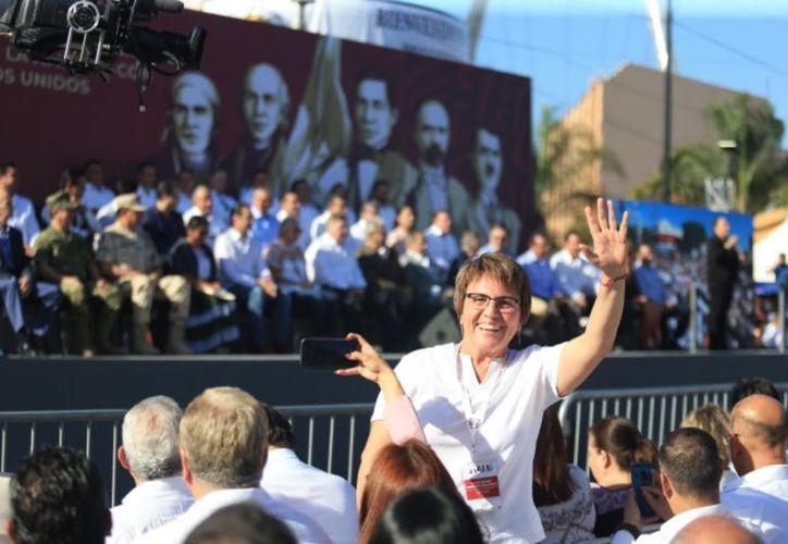 Laura Beristain asegura que continúa trabajado en concordancia con Andrés López Obrador. (Cortesía)