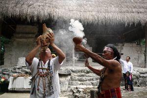Reciben el otoño con ceremonia maya