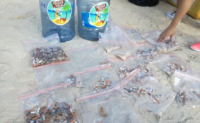 La organización Colilla por Colilla implementó la limpieza en playas de este destino turístico. (Iván Cadena/SIPSE)