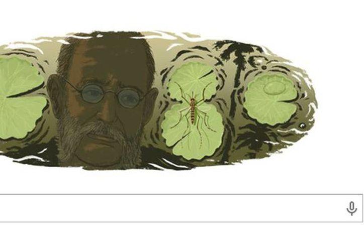 Google homenajea con un <i>doodle</i> al médico cubano Carlos Juan Finlay Barrés, en nuevo aniversario de su nacimiento. (Captura de Google)