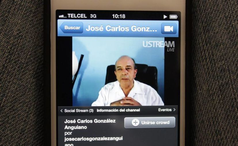 La transmisión virtual a través de ustream.tv. (Adrián Barreto/SIPSE)