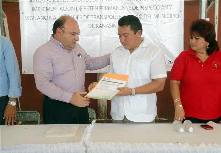 Kanasín y la DTEY coordinan esfuerzos en el tema del transporte. (SIPSE)