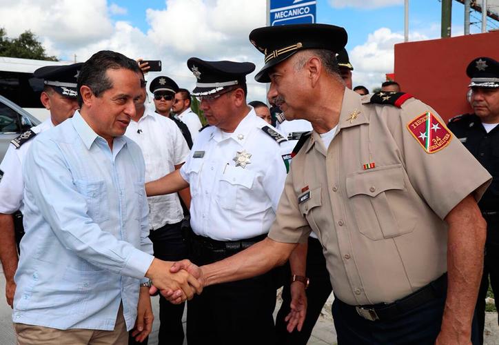 El gobernador Carlos Joaquín González realiza tareas para reforzar la seguridad en el estado. (Redacción/SIPSE)