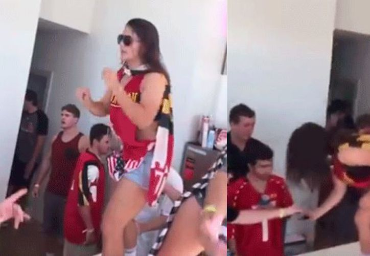 Una chica rompe una lata con su frente y enloquece las redes. (Captura de YouTube).