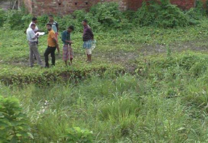 Catorce cuerpos de bebés no desarrollados fueron hallados en un estanque de Calcula, India. (Excélsior)