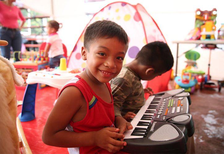 Hay juegos didácticos y recreativos para los pequeños de diferentes edades.  (Foto: Twitter/SAGARPA_mx)